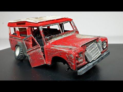 Restoration Old LAND ROVER Series 3 Model Car