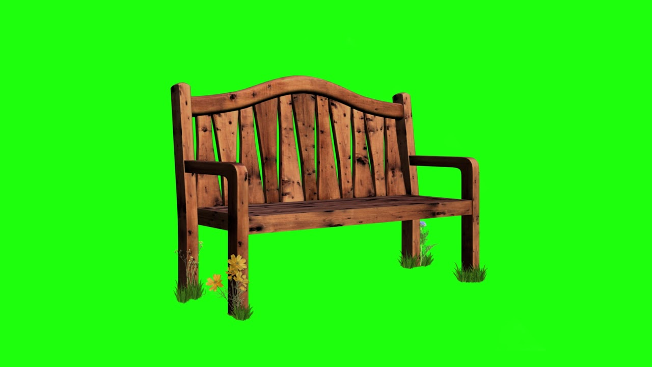 Green Screen Footage Wooden Park Sofa Free To Use Free Stock Footage