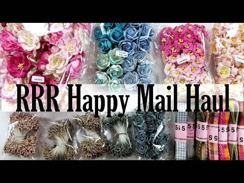 Really Reasonable Ribbon Design Team  Happy Mail Haul Polly's Paper Studio Flowers Ribbon Unboxing