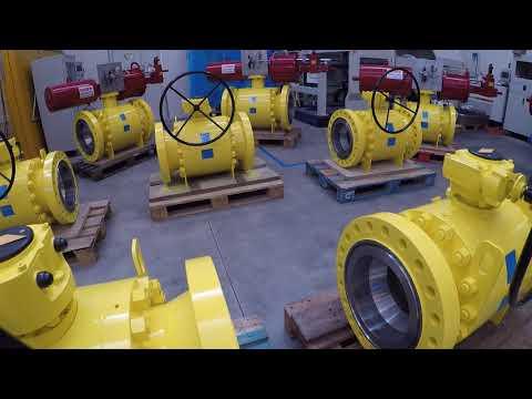 Cam valves - Trunnion ball valves with Rotork Fluid