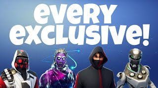 Fortnite: All Exclusives! ($1000 Skins - Galaxy, Ikonik, Eon)