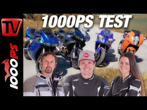 Supersport Legenden im 1000PS Test - 996er, R1, RC8 und Buell