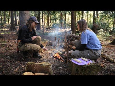 Campfire Bannock Bread Hot Dogs