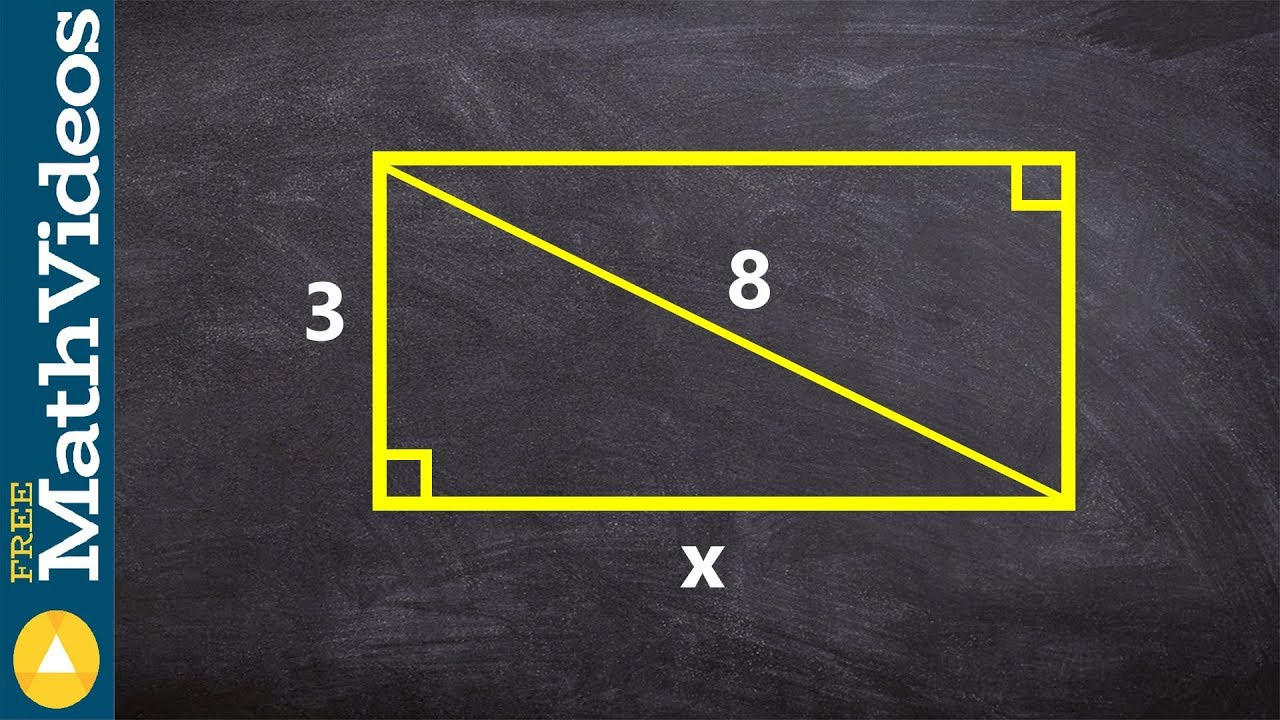 Geometry  Missing A Leg Use Pythagorean Theorem To Find The Missing Side