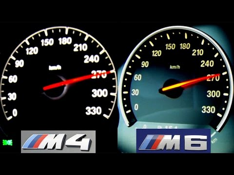 BMW M4 vs BMW M6 Acceleration + Sound Onboard Autobahn V8 Biturbo Launch Control