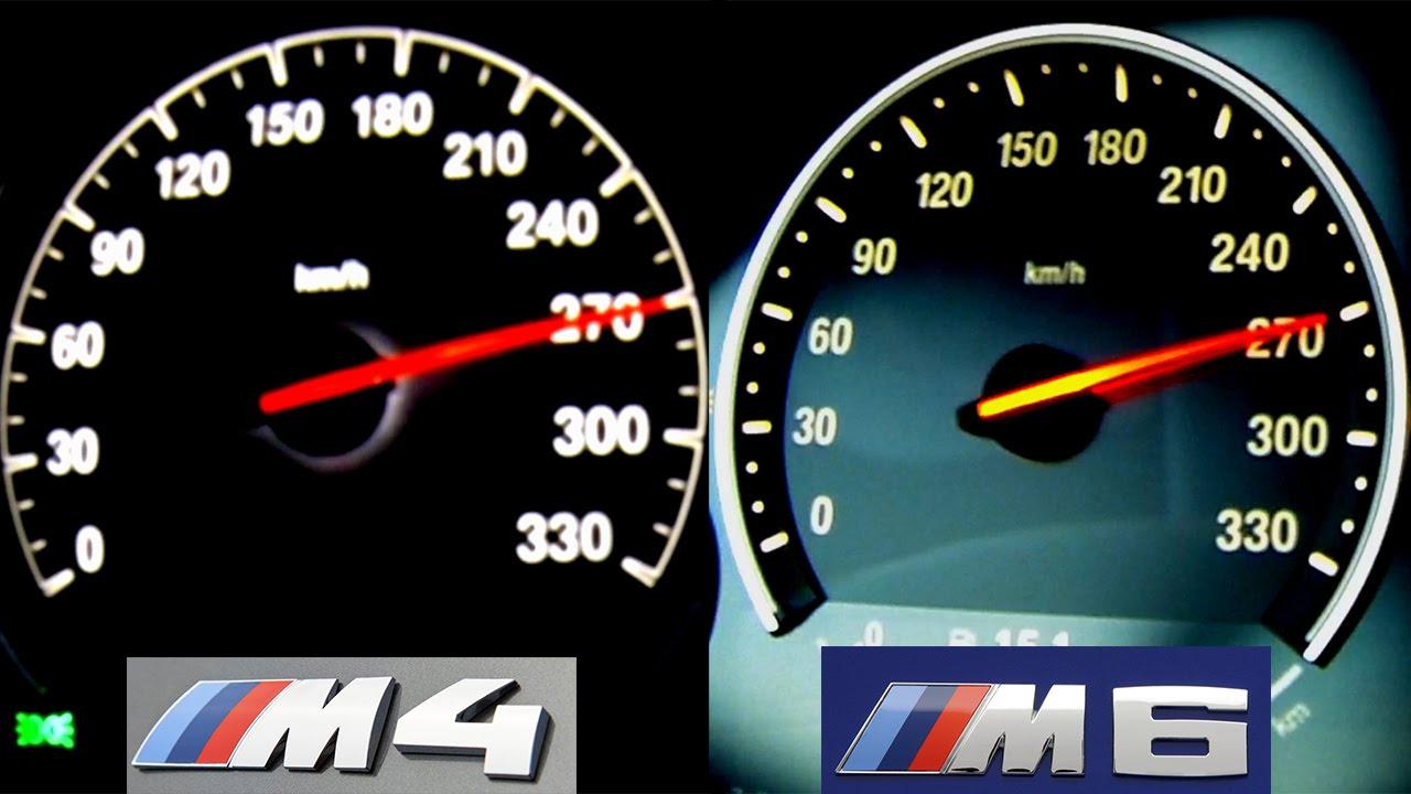 Bmw M4 Vs Bmw M6 Acceleration Sound Onboard Autobahn V8