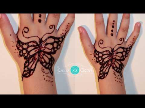 xına bəzəkləri  4 / henna design / Cənnət çiçəyi xınayaxdı