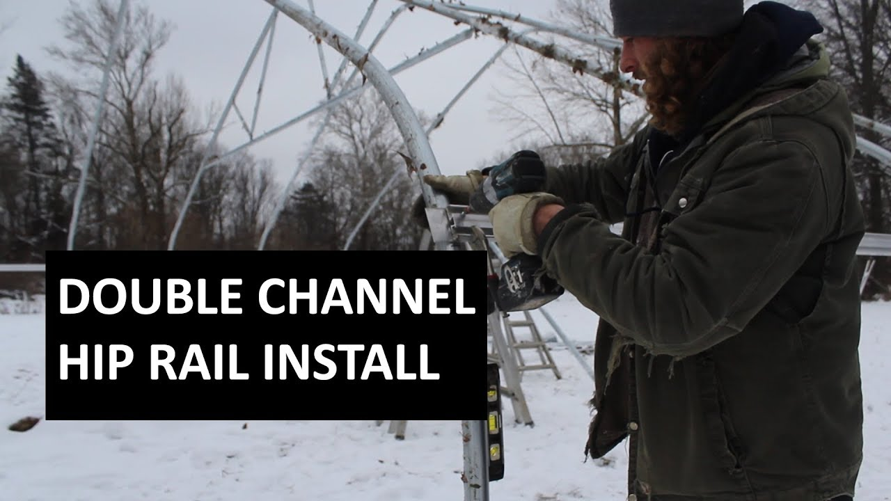 Install Greenhouse Hip Rail using Double Channel Hip Board - Bolt and Nut Method