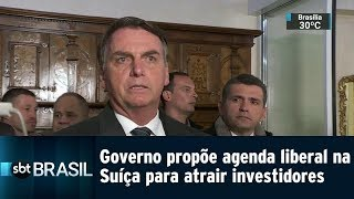 Governo propõe agenda liberal na Suíça para atrair investidores | SBT Brasil (21/01/19)