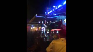 Pole dancer at sound of cream