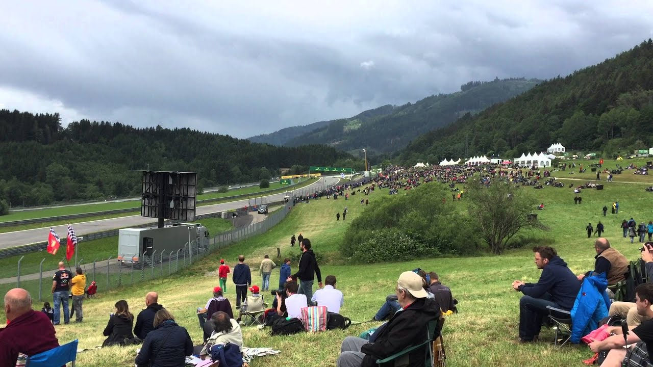 austria view red bull. General Admission Views At Red Bull Ring, Austrian F1 Grand Prix - YouTube Austria View T
