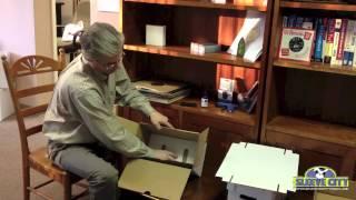 Sleeve City 7 inch Record Storage Box Assembly