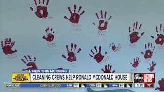 Crews donate time to clean St. Pete's Ronald McDonald Houses