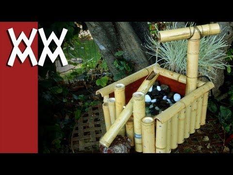 "Make a ""Kill Bill"" style Shishi-odoshi ""deer scarer"" bamboo water fountain"