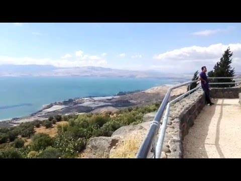 An amazing view on the Sea of Galilee (from the Golan Heights), Israel