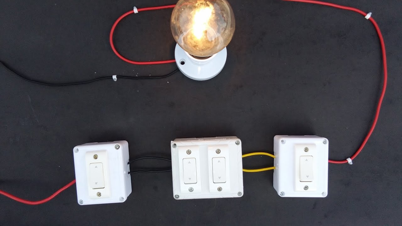 CONTROLLING 1 BULB FROM DIFFERENT 3 PLACES/3 SWITCHES - YouTube