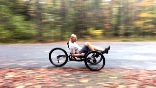AZUB Ti FLY X full suspension recumbent trike with all 26 wheels