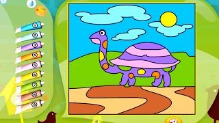Раскраска - Игра. Животные. Обзор развивающего приложения для детей
