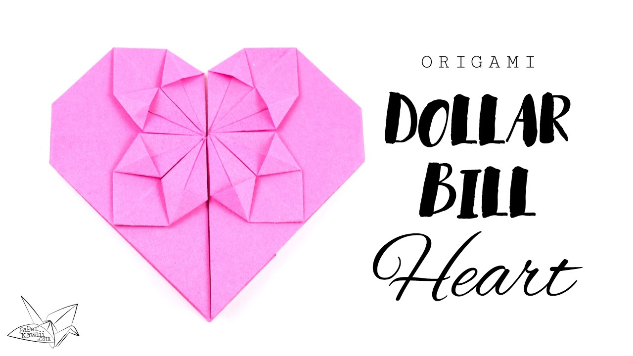 Easy origami money heart tutorial diy paper kawaii youtube jeuxipadfo Images