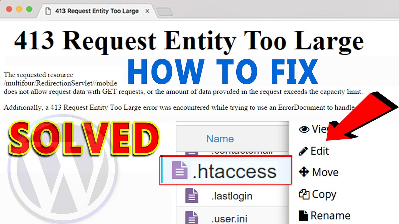 How To Fix 413 Request Entity Too Large Wordpress Error Using