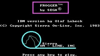 Frogger gameplay (PC Game, 1981)