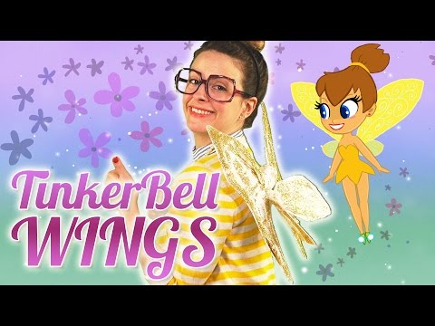 DIY Tinker Bell Fairy Wings Craft | Arts and Crafts with Crafty Carol