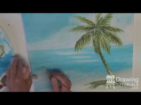 Acrylic Seascape Painting Lesson (Pt 3) – Refining The Beach Painting