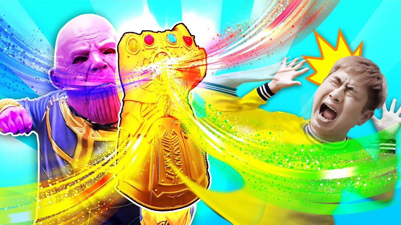 Thanos steals the color! 타노스가 색깔을 훔쳐갔어요!│Superhero learn color pretend play│럭키강이 LuckyKangi