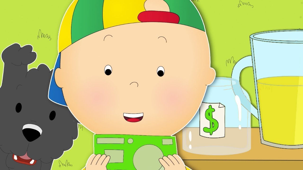 Caillou and the Lemonade Stand ★ Funny Animated Caillou   Cartoons for kids   Caillou