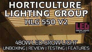 HLG 550 V2 LED Grow Light Review, Unboxing, and PAR Testing