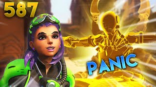 Seeing Sombra = PANIC! | Overwatch Daily Moments Ep.587 (Funny and Random Moments)