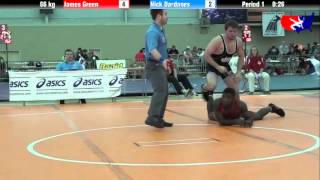James Green vs. Nick Dardanes at 2013 ASICS University Nationals - FS
