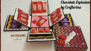Chocolate Explosion box | How to make explosion box| Exploading Box | Surprise box| Chocates