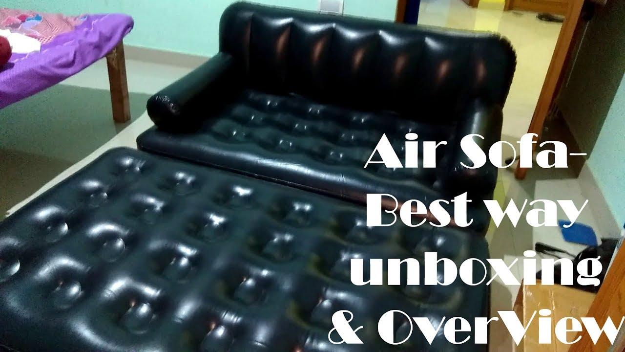 Air Sofa Bed 5 In 1 With Air Pump Bestway Inflatable Sofa Just 3443 Rs By Sanatan Sarkar