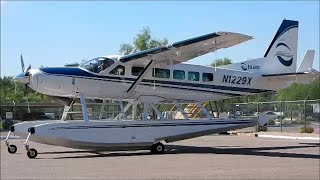 GoPro Cessna 208 Caravan Scottsdale Airport & Water Landing on Roosevelt Lake