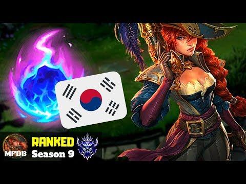 Korean CHALLENGER Miss Fortune Build - League of Legends (Season 9)