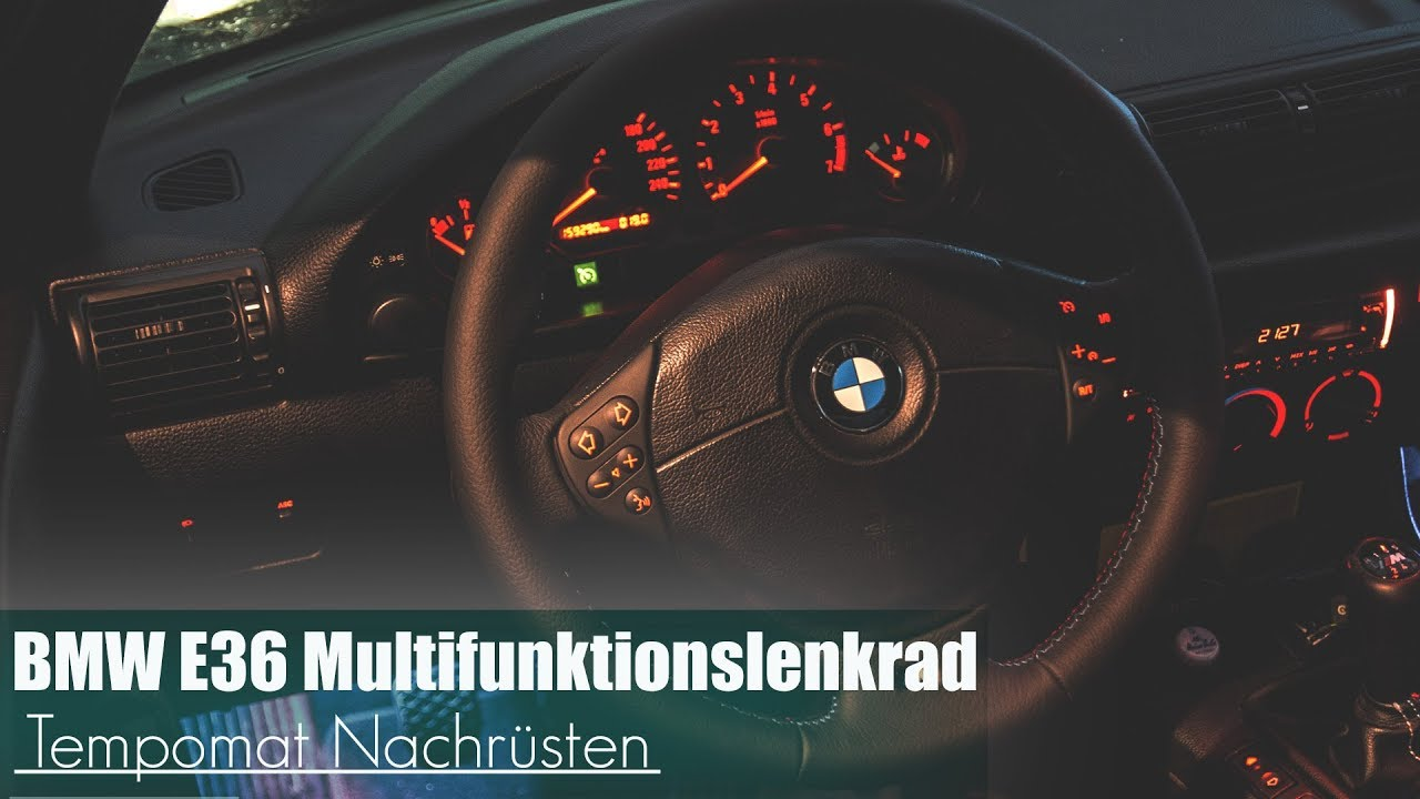 bmw e36 multifunktionslenkrad tempomat nachr sten youtube. Black Bedroom Furniture Sets. Home Design Ideas