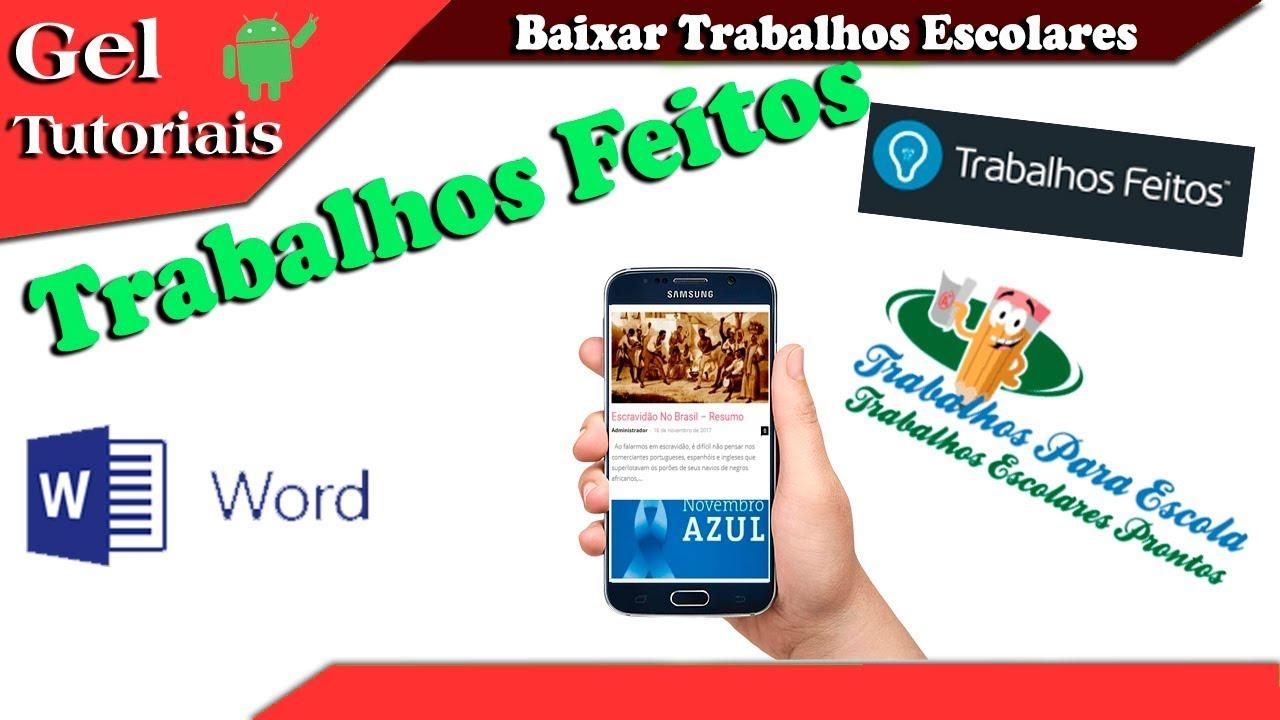 TRABALHOS ESCOLARES PRONTOS PDF