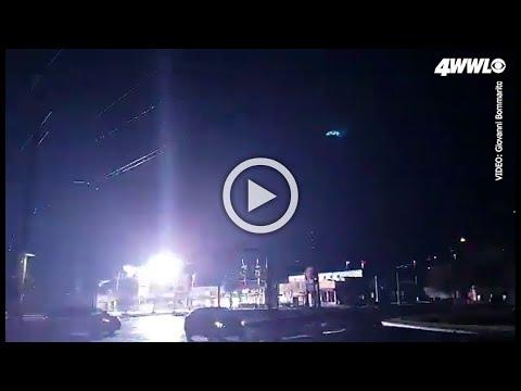 Electrical explosion, sparks light up Kenner sky