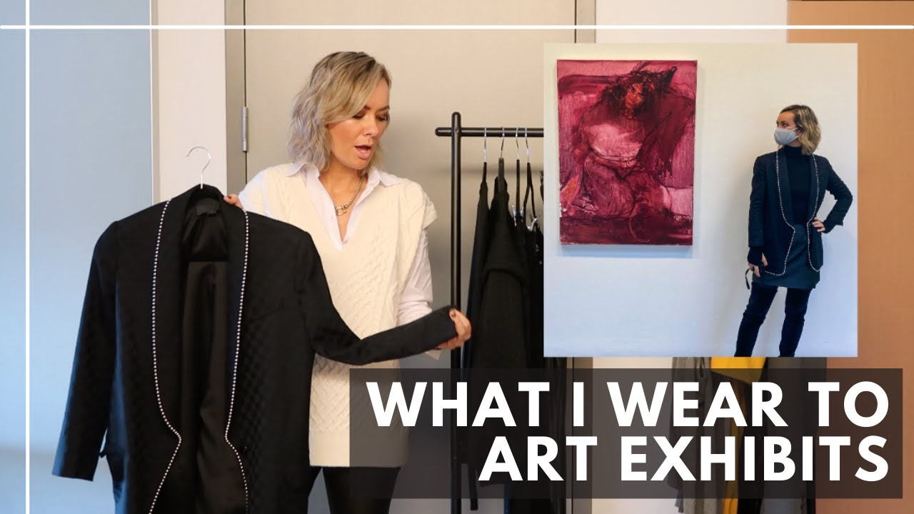 What I wear to art exhibits...Frankie Shop, The RealReal, Zara and more...