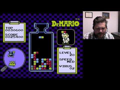 Dr. Mario Level 20 Medium   VGHI Play 'n' Chat Live Stream
