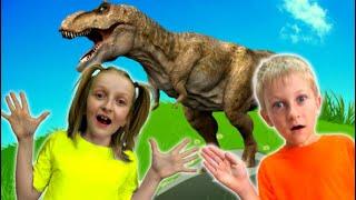 Tawaki kids pretend play with dinosaur