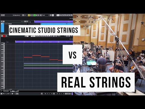 Cinematic Studio Strings  vs Real Orchestra Strings - Comparison