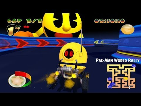 Pac-Man World Rally PSP Playthrough - Let's Catch Some Ghosts
