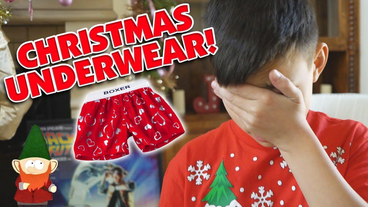 I GOT UNDERWEAR FOR CHRISTMAS!!! - YouTube