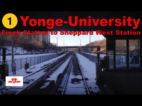 1 Yonge-University - TTC 1995-2001 Bombardier T1 (Finch Stn to Sheppard West Stn) [Front View]