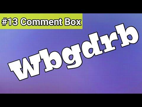 Wbgdrb || comment box