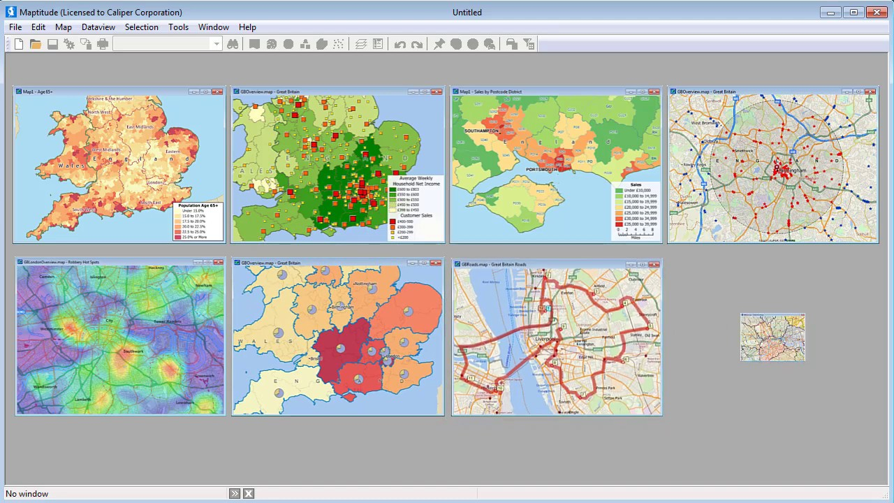Maptitude Mapping Software for UK - Postcode Mapping Software