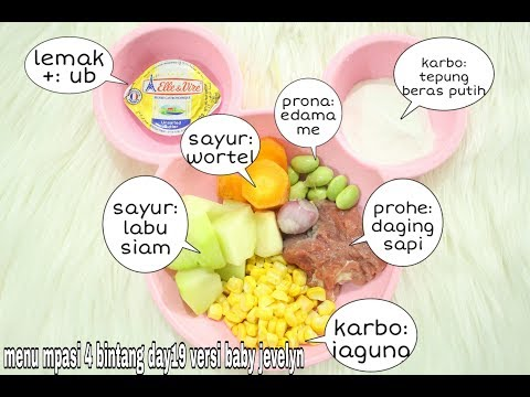 RESEP MPASI 6 BULAN PERTAMA ( Menu 4 Bintang  Daging Sapi +sayur)