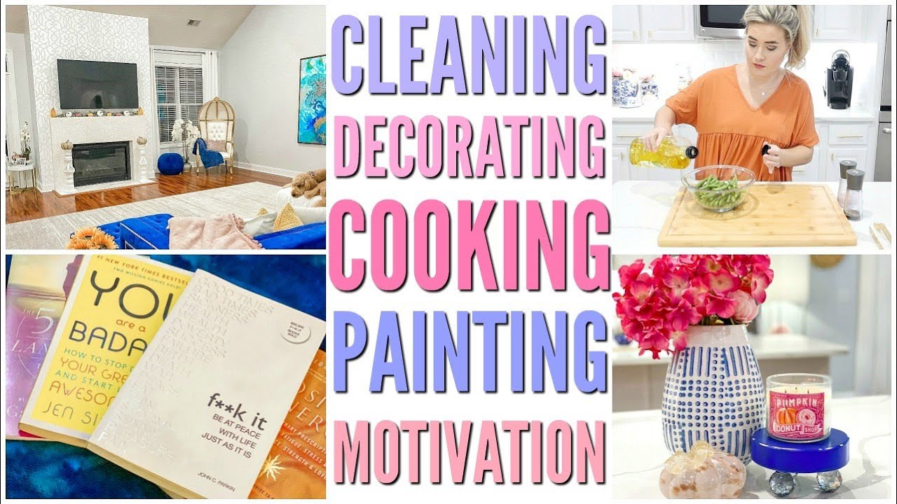 DECORATE AND CLEAN WITH ME | COOKING AND CLEANING MOTIVATION | HOME DECOR IDEAS | Love Meg
